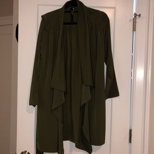 Olive Green Duster Size Small